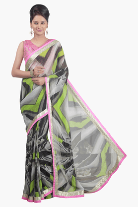 JASHN Womens Printed Saree - 201502678