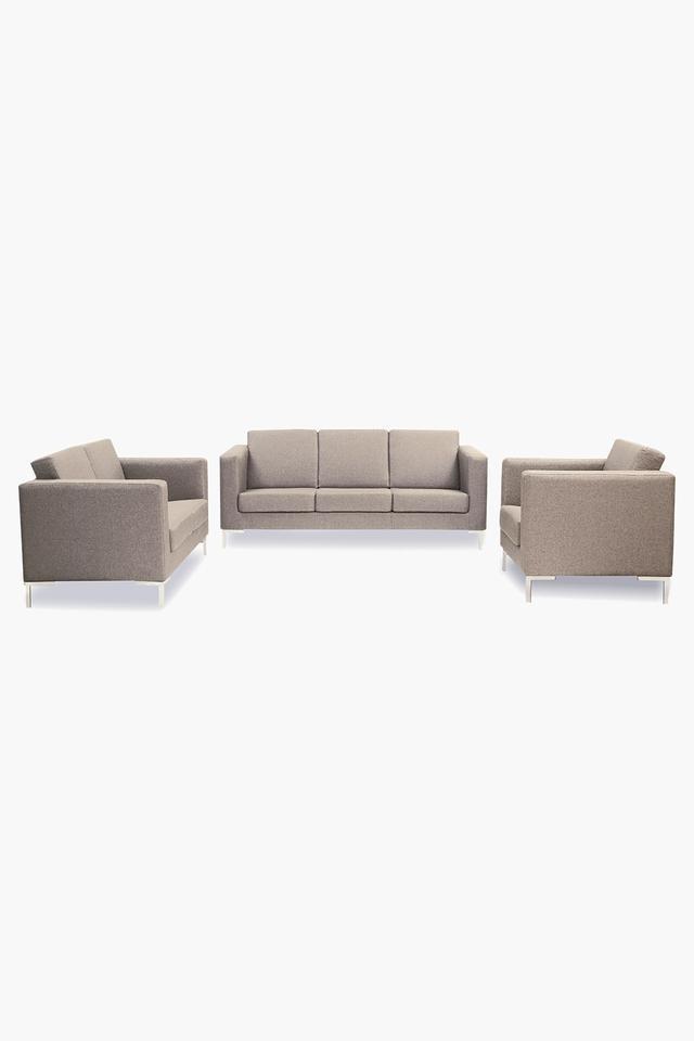 Cocoa Beige Fabric Sofa (3-2-1 Sofa Set)