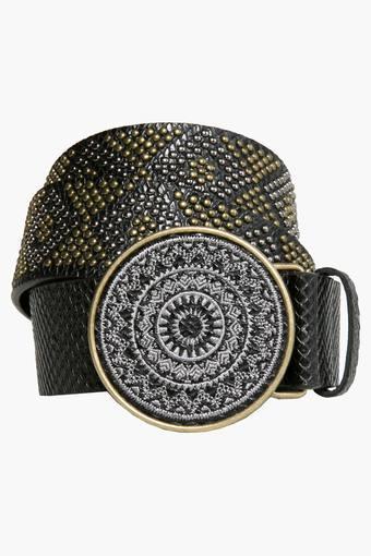 Womens Embellished Buckle Belt