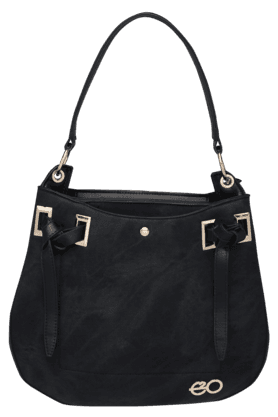 E2O Womens Leather Zipper Closure Satchel - 200680346