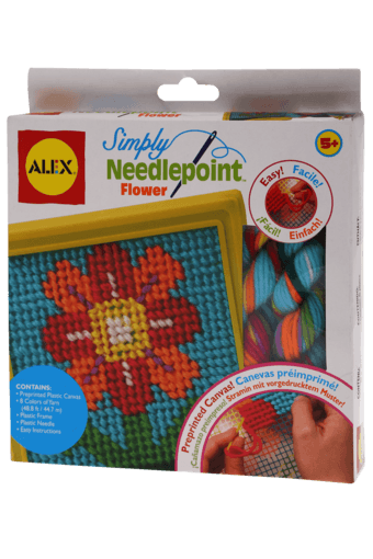 Girls Simply Needlepoint Flower Canvas
