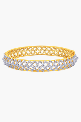 MALABAR GOLD AND DIAMONDSWomens 18 KT Gold And Diamond Bangle - 201203723