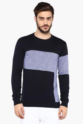 VAN HEUSEN Mens Round Neck Colour Block Sweater