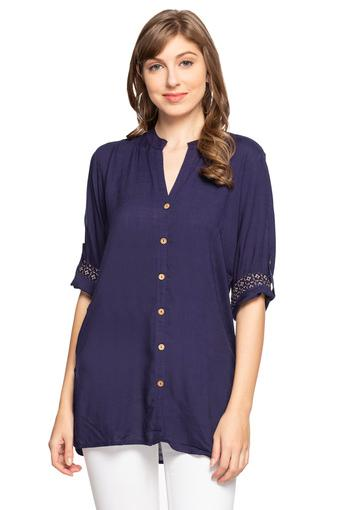 SANAA -  Navy Tops & Tees - Main