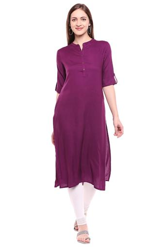 STOP -  Purple Kurtas - Main