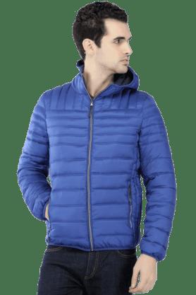 CELIOMens Full Sleeves Slim Fit Solid Jacket