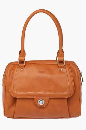 STOP Womens Synthetic Leather Zipper Closure Shoulder Handbag