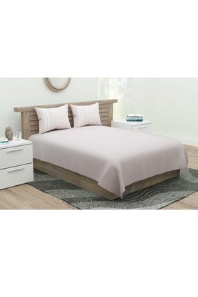 Slub Double Bed Sheet with 2 Pillow Cover