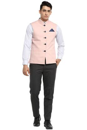 Mens Moa Collar Solid Waistcoat - Pack of 2