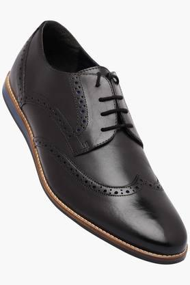VENTURINI Mens Leather Lace Up Derbys - 202336628