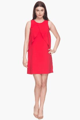 Women Solid Sleeveless Dress