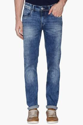 FLYING MACHINEMens Slim Fit Stone Wash Jeans (Michael Fit)