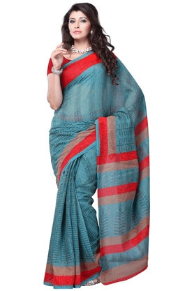 DEMARCA De Marca Blue Art Silk Designer DF-385D Saree
