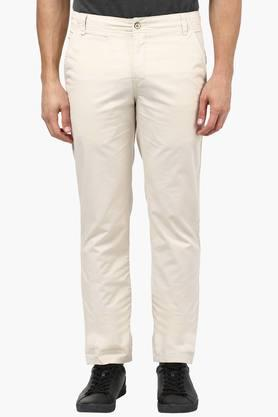 Mens Tapered Fit 5 Pocket Solid Trousers - 202242007