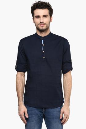 STOPMens Mandarin Collar Shirt