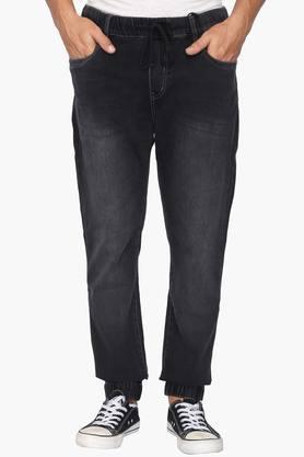 WROGN Mens Slim Fit 5 Pocket Mild Wash Jeans  ...