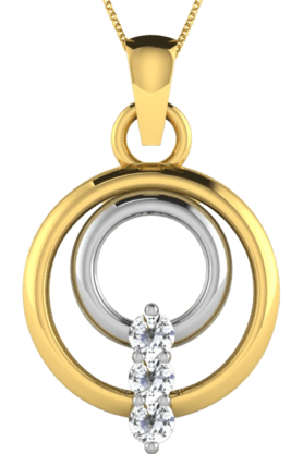 SPARKLES His & Her Collection 18 Kt Pendant In Gold & Real Diamond HHP50012