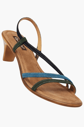 RAW HIDE Womens Daily Wear Slipon Medium Heel Sandal