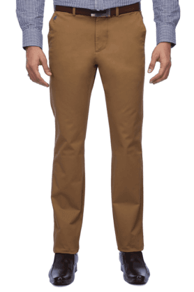 INDIAN TERRAIN Mens Flat Front Slim Fit Solid Chinos - 9983081