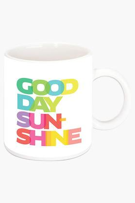 CRUDE AREA Good Day Sunshine Printed Ceramic Coffee Mug