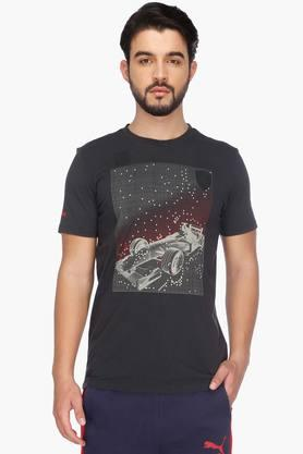 PUMA Mens Short Sleeves Printed Round Neck T-Shirt