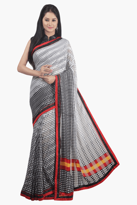 JASHN Womens Printed Saree - 201502529