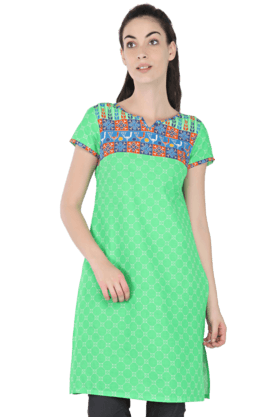 AURELIA Women Printed Short-sleeved Kurti
