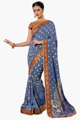 DEMARCA Womens Banarasi Modal Silk Designer Saree  ...