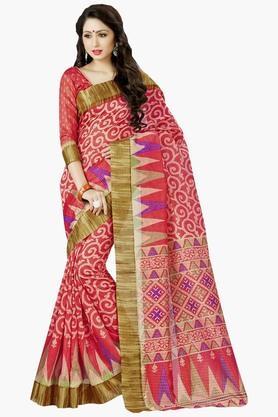 DEMARCAWomens Silk Designer Saree - 202338129