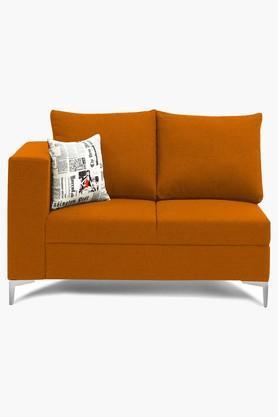 Dark Orange Water Repellent Fabric Sofa (2 - Seater)