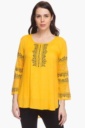 STOP Womens Lace-accented Kurta