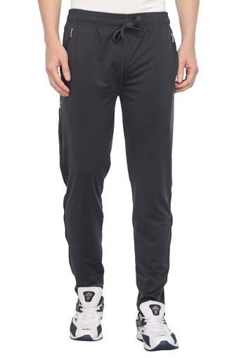 Mens 2 Pocket Solid Sports Track Pants