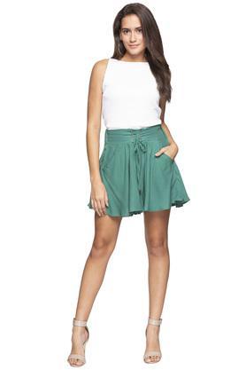 Womens 2 Pocket Slub Skirt