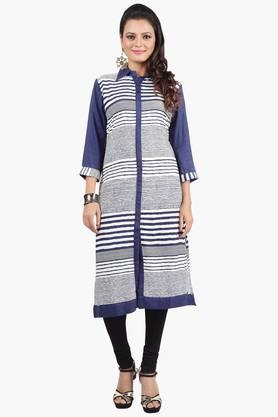 JASHN Womens Striped Fusion Kurta