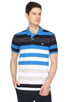 Mens Stripes Polo T-Shirt