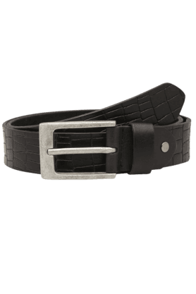 LIFE Mens Textured Leather Formal Belt