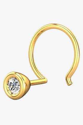 VELVETCASEWomens 18 Karat Yellow Gold Nose Ring (Free Diamond Pendant) - 201065017