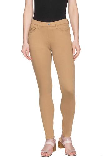 Buy Go Colors Womens 4 Pocket Solid Jeggings Shoppers Stop