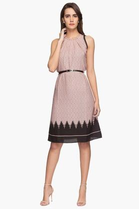 Womens Printed Casual A-line Dress