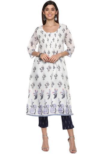 BIBA -  WhiteSalwar & Churidar Suits - Main