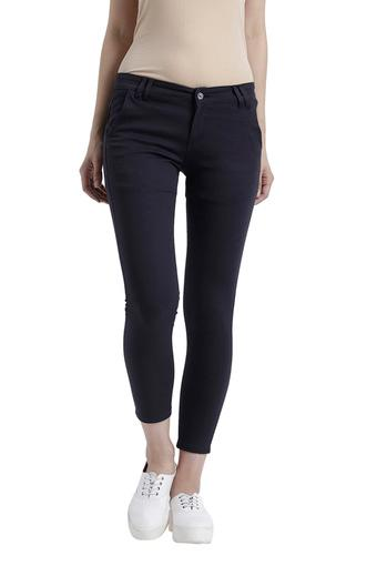 Womens Skinny Fit Solid Pants