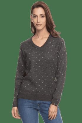 EXCLUSIVE LINES FROM BRANDSWomen Full Sleeves V-Neck Winterwear - 200154392