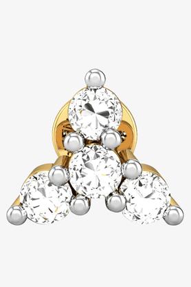 VELVETCASEWomens 18 Karat Yellow Gold Nose Ring (Free Diamond Pendant) - 201065024