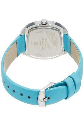 Girls White Dial Leather Analogue Watch - NK6162SL02