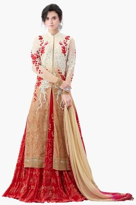 MAHOTSAV Womens Embellished Semi-stitched Lehenga Choli - 201661613