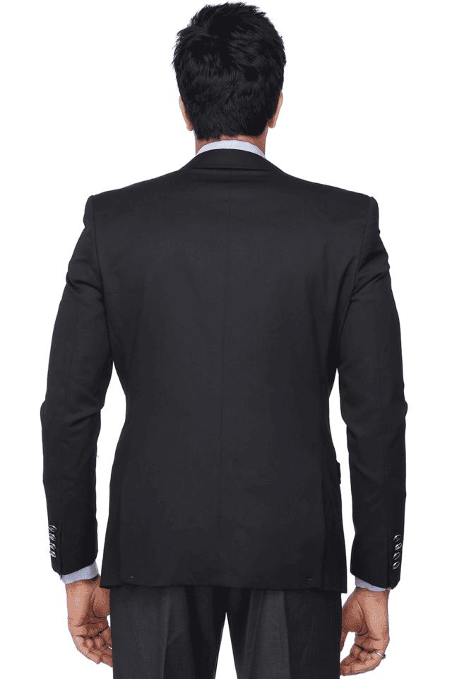 Mens Long Sleeves Slim Fit Solid Blazer