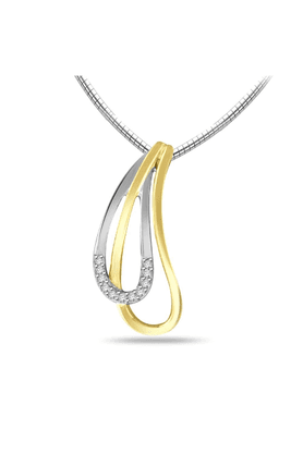 SPARKLESHis & Her Collection 92 Kt Diamond Pendants In 925 Sterling Silver Diamond HHP6156-92KT
