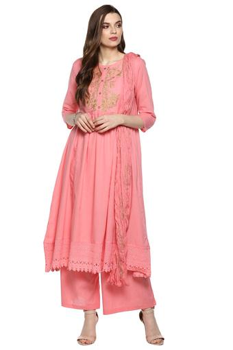 STOP -  Pink Salwar & Churidar Suits - Main