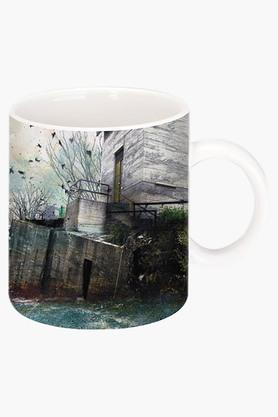 CRUDE AREA In A Fog Printed Ceramic Coffee Mug