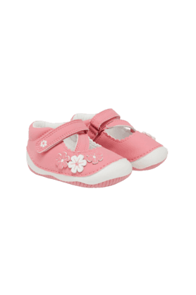 MOTHERCARE Girls Pink Flower Crawler Shoes